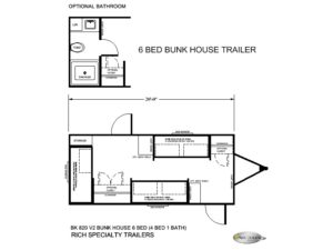 BK 820 V2 6 BED BUNK HOUSE TRAILERS