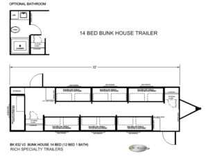 BK 832 V2 14 MAN BUNK TRAILERS