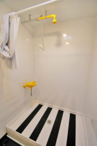 safety shower trailers interior