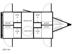 4 STATION OIL FIELD SHOWER TRAILER FLOOR PLAN