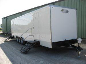 oil field restroom trailers steps